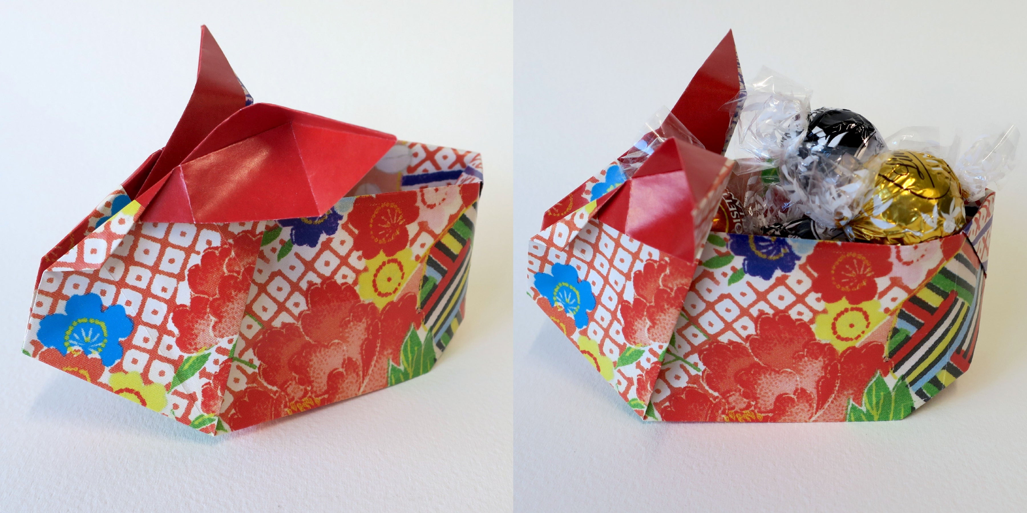 Origami Bunny Rabbit Container
