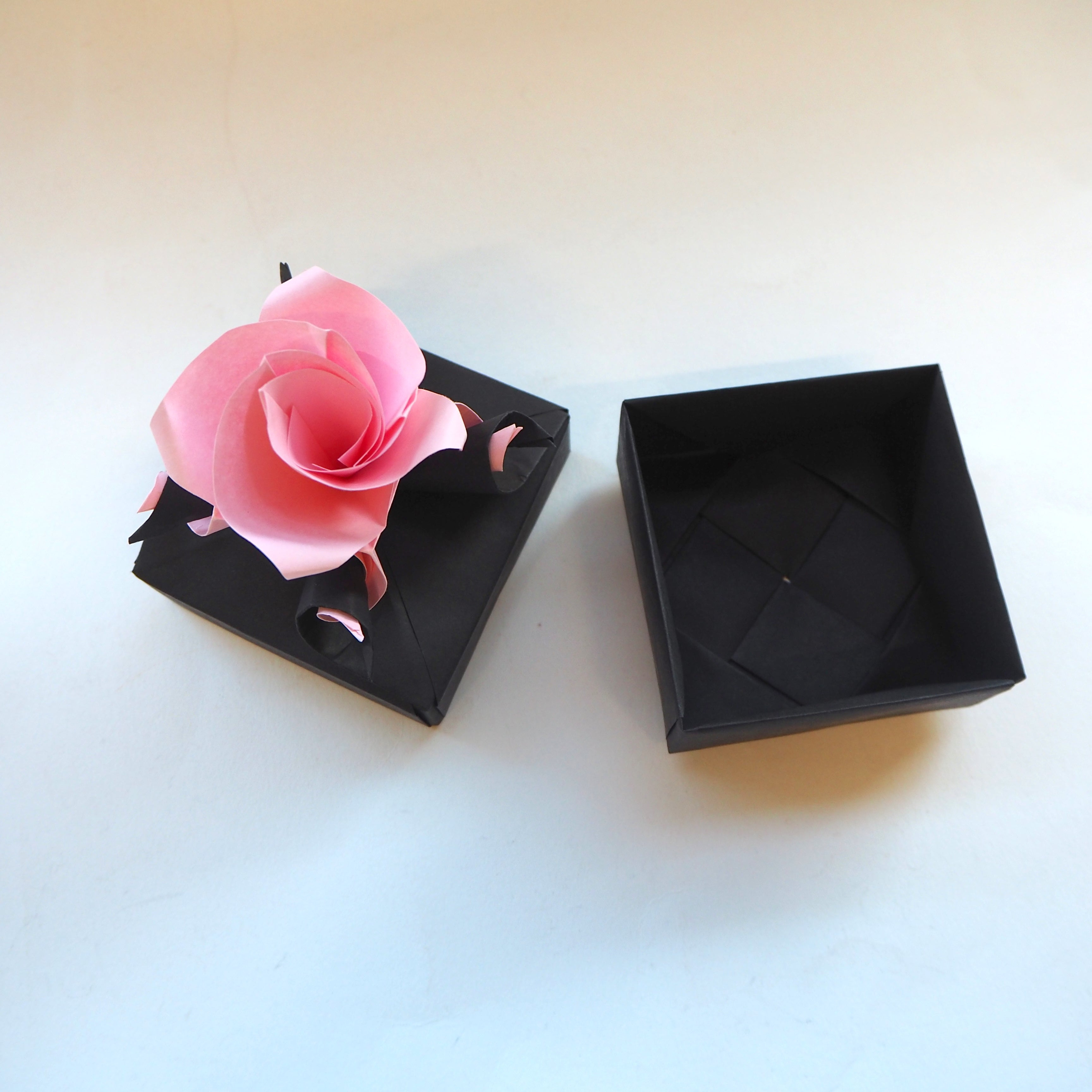 origami versailles rose box, valentines day gift