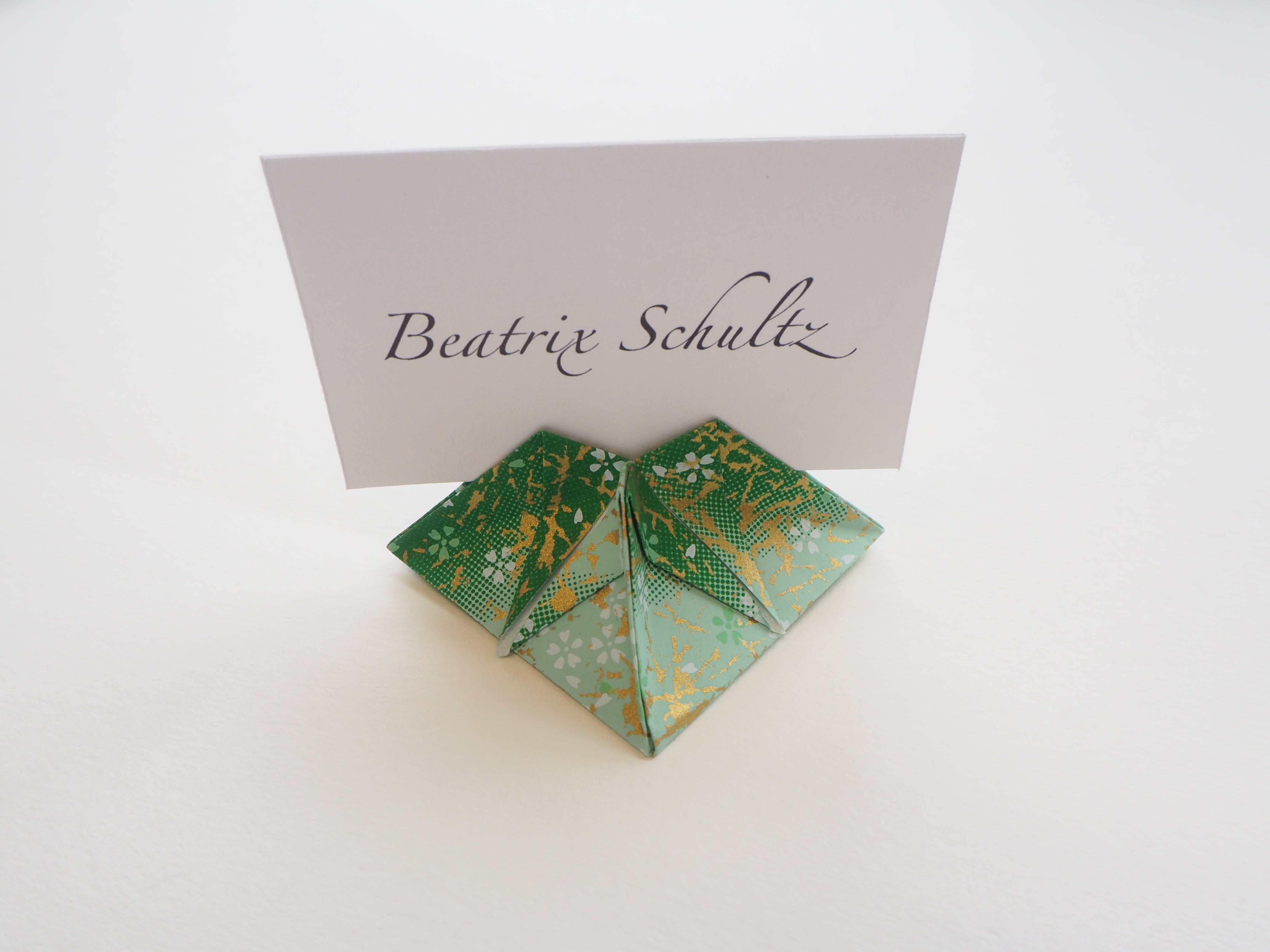 origami place card for wedding and event