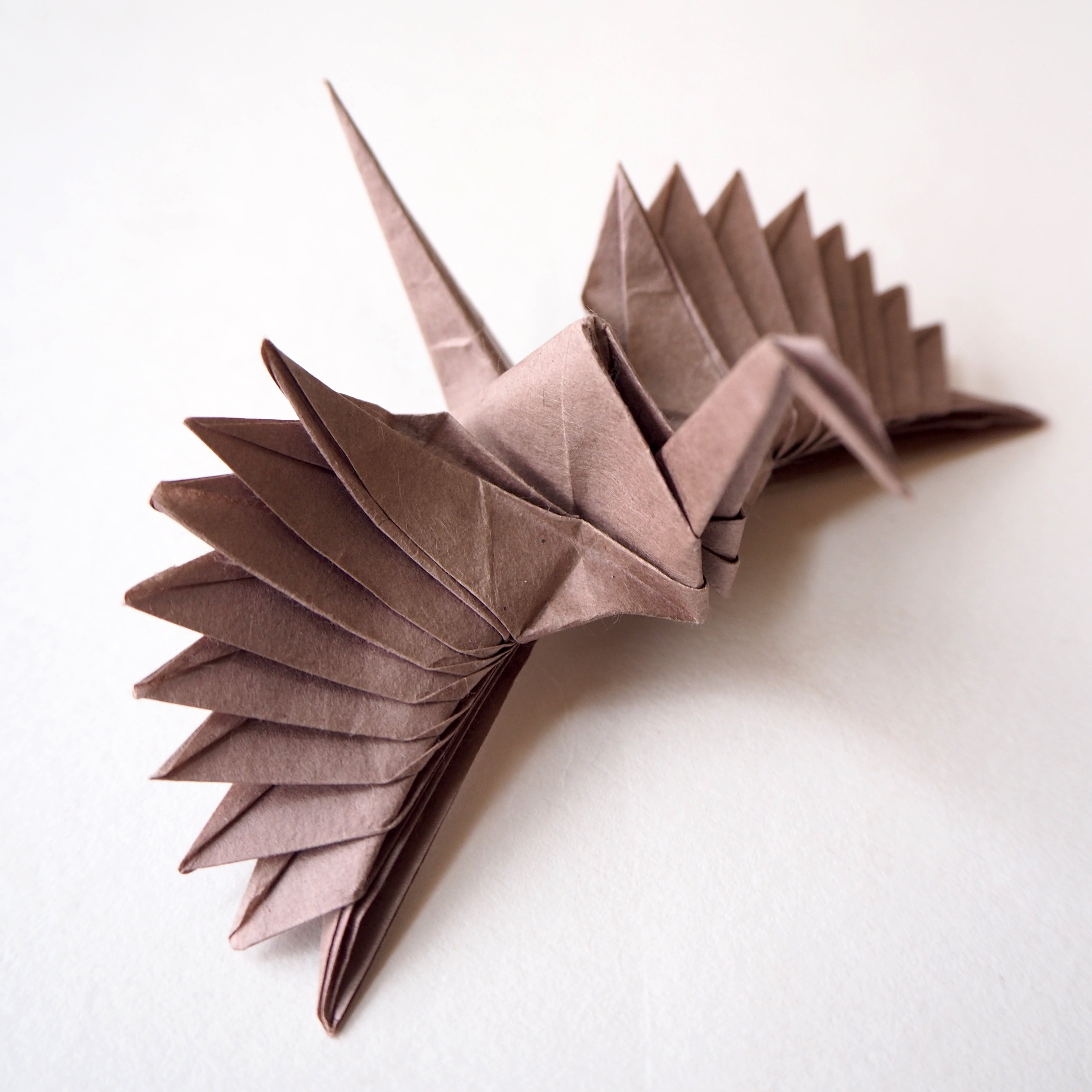 Origami Feathered Crane by Riccardo Foschi