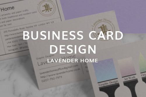 Business Card Design for Lavender Home