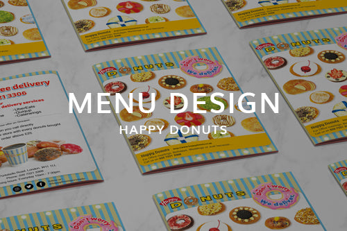 Takeaway Menu Design for Happy Donuts
