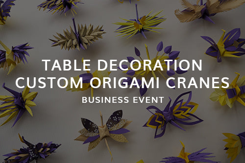 Bespoke Paper Art Origami Table Decoration for business event