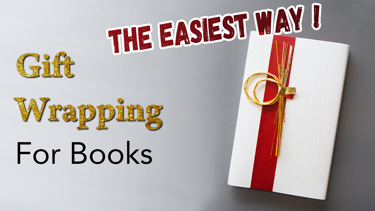 The easiest way to gift wrap a book