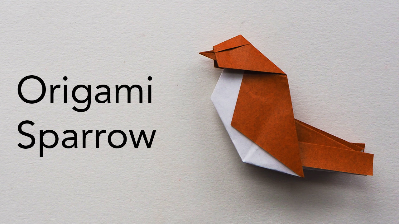 tutorial for an origami sparrow designed by keiji kitamura