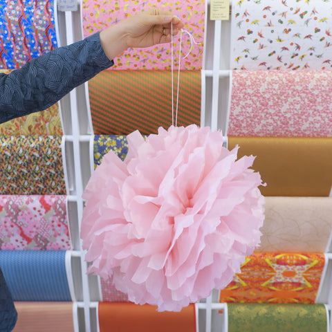 Tutorial for Tissue Paper Pom Pom