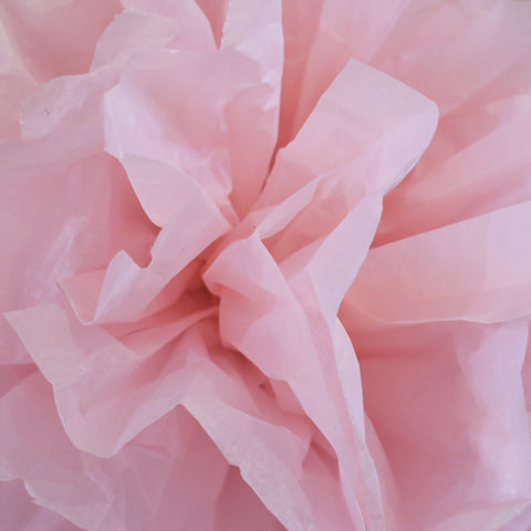 Close Up DIY Tissue Paper Pom Pom decoration