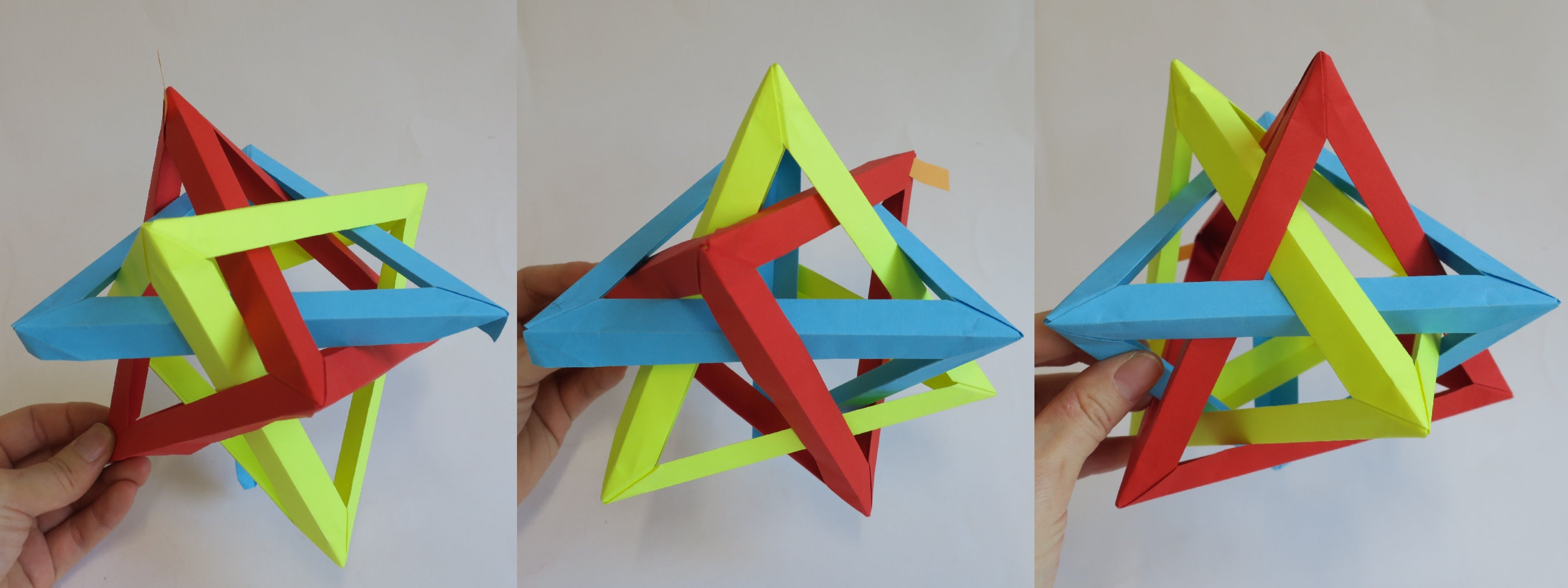 Origami 5 Intersecting Tetrahedra Tutorial
