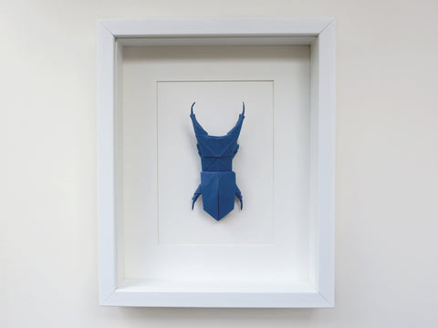 origami stag beetle wall decoration
