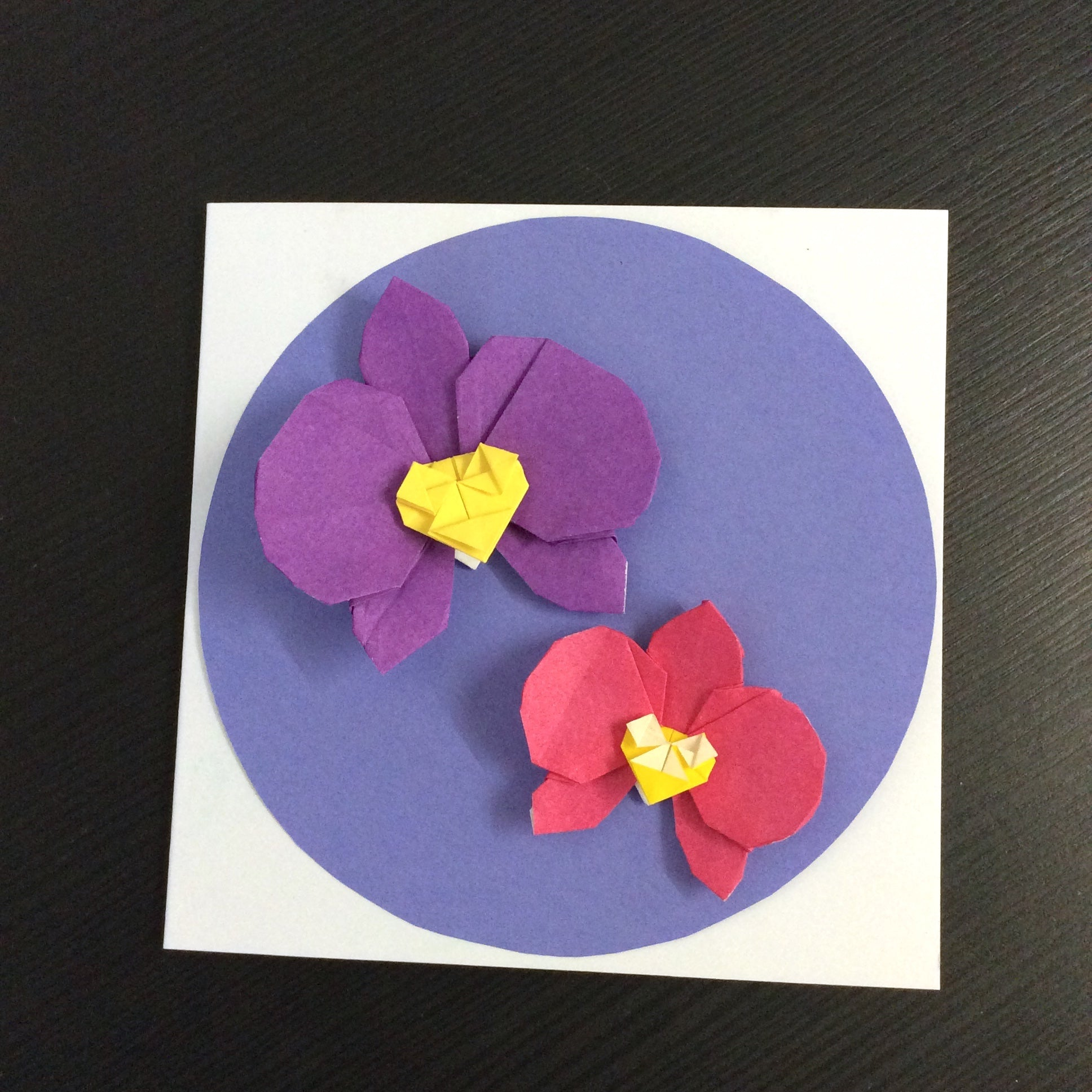 Origami Flower Orchid Greeting Card