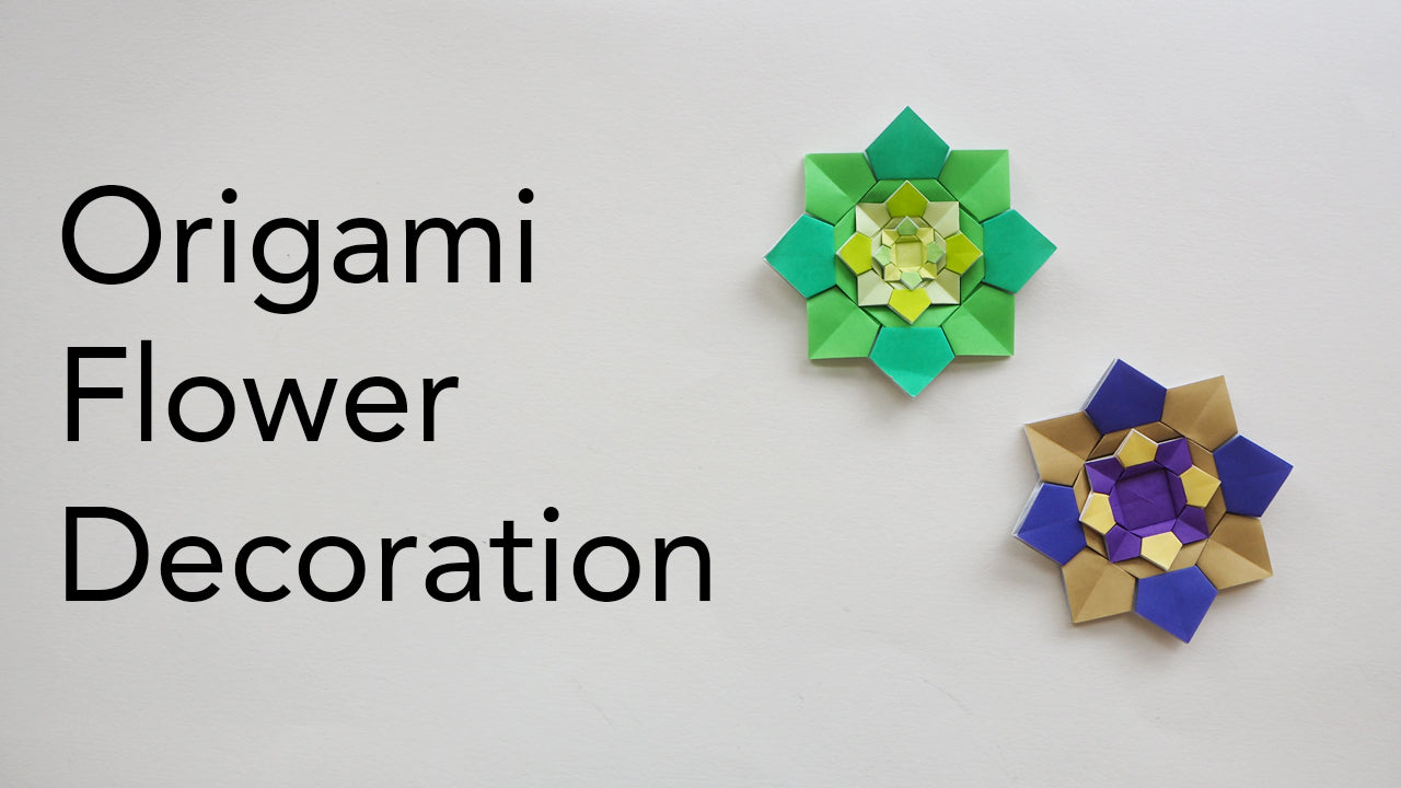 tutorial for an origami flower decoration