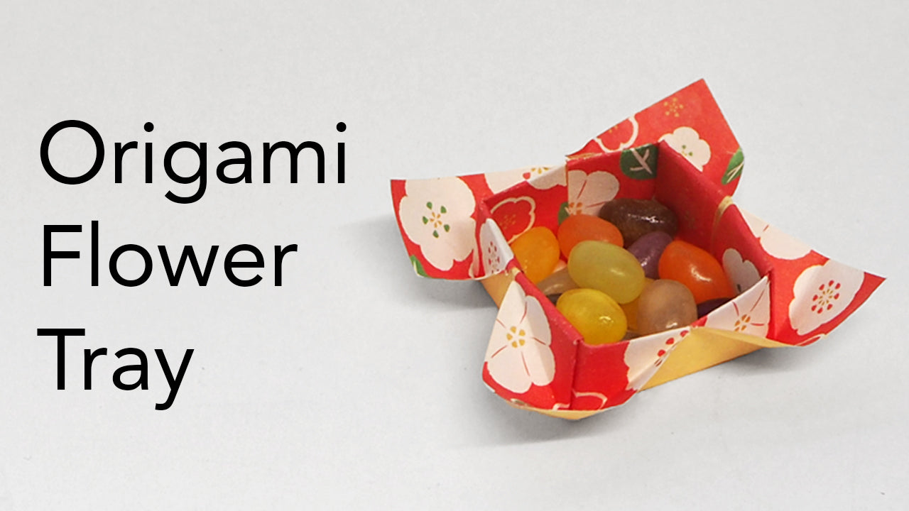 easy kids origami flower tray tutorial video