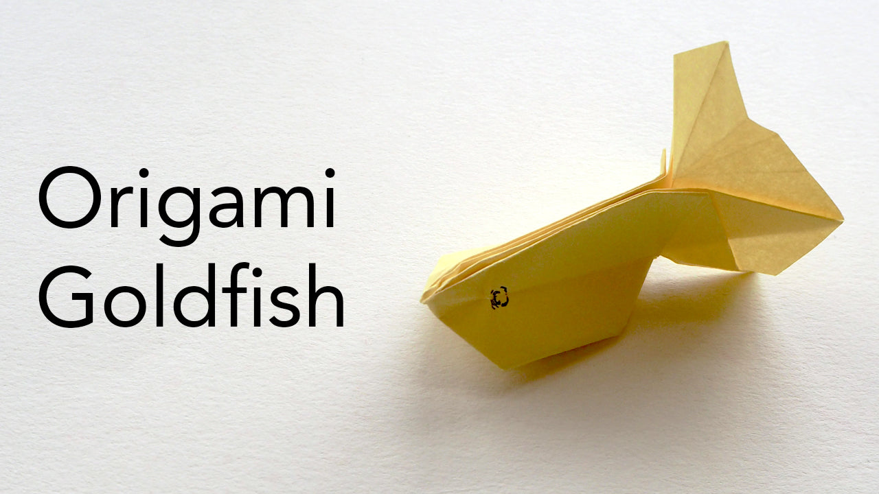 tutorial for an origami goldfish designed by Tsu Do Ing