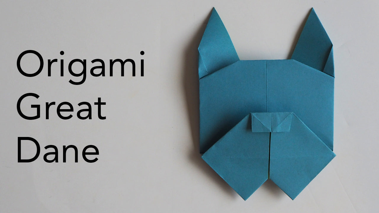 tutorial for an origami great dane dog