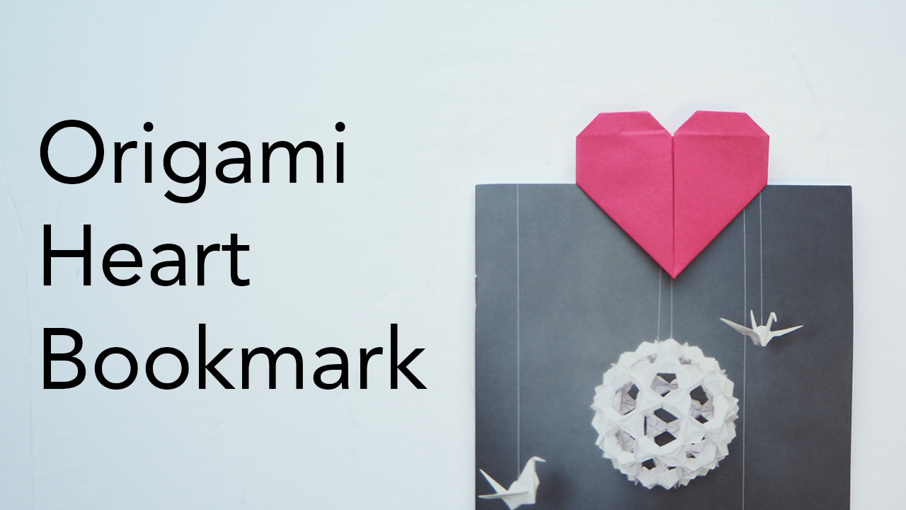tutorial for an easy origami heart bookmark