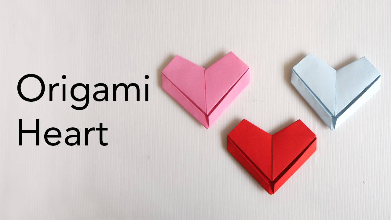 Origami Heart Tutorial Valentines Day Papercraft