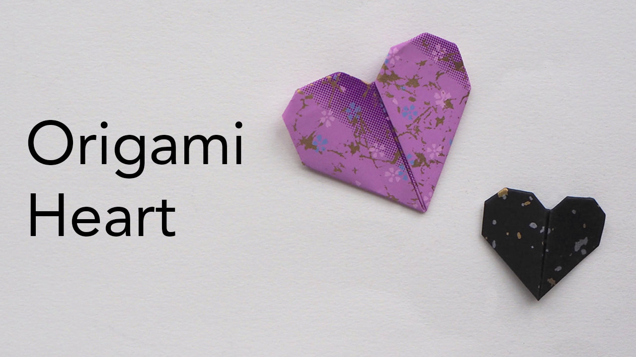 tutorial for an easy origami heart
