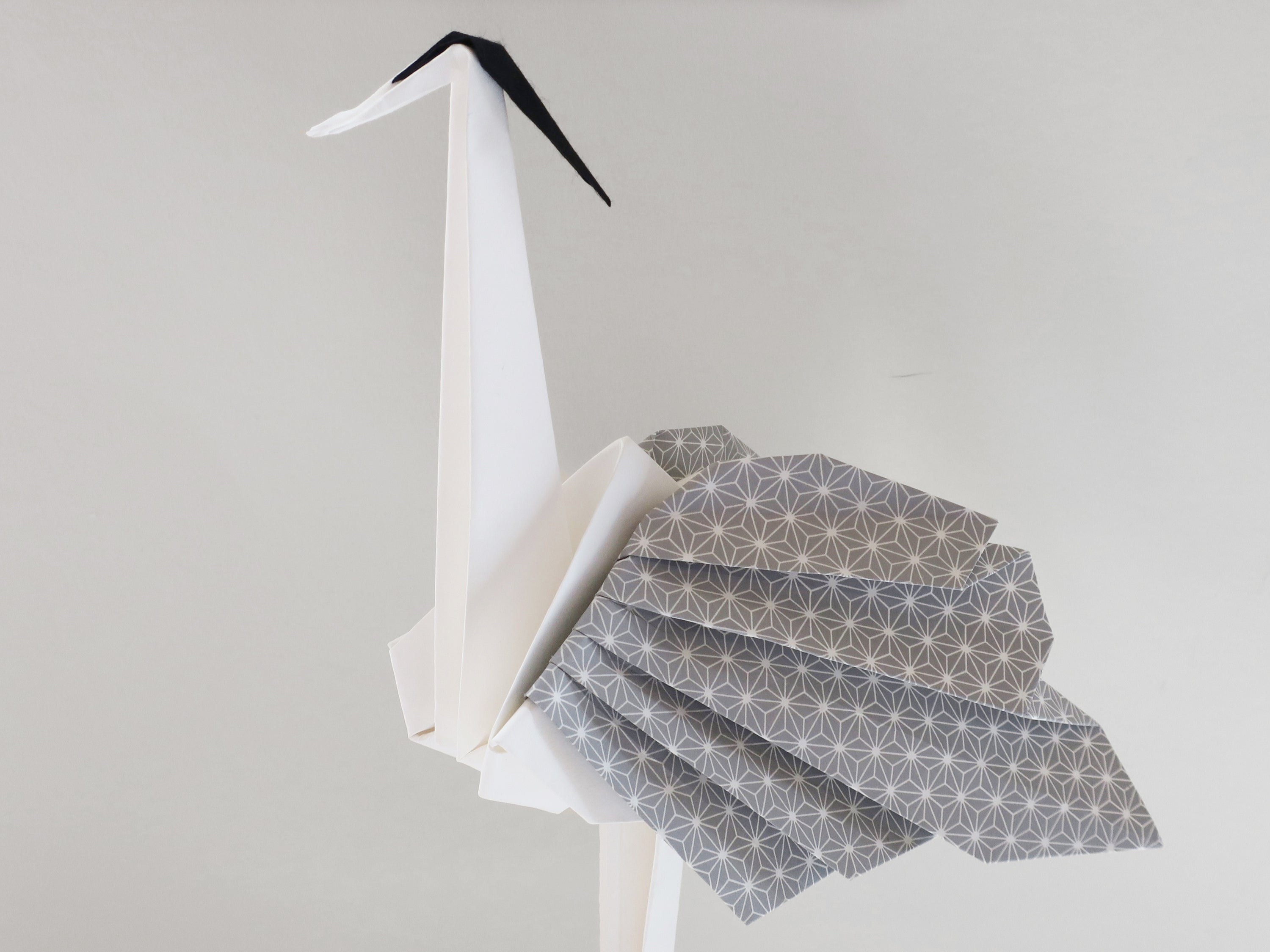 custom origami heron bird for decoration
