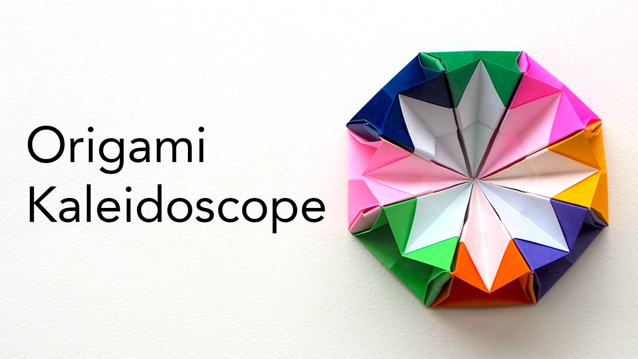 tutorial for an origami kaleidoscope