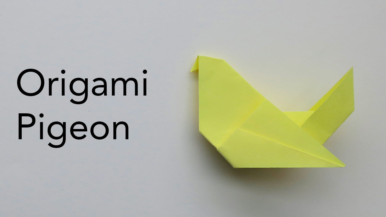 easy kids tutorial for an origami pigeon