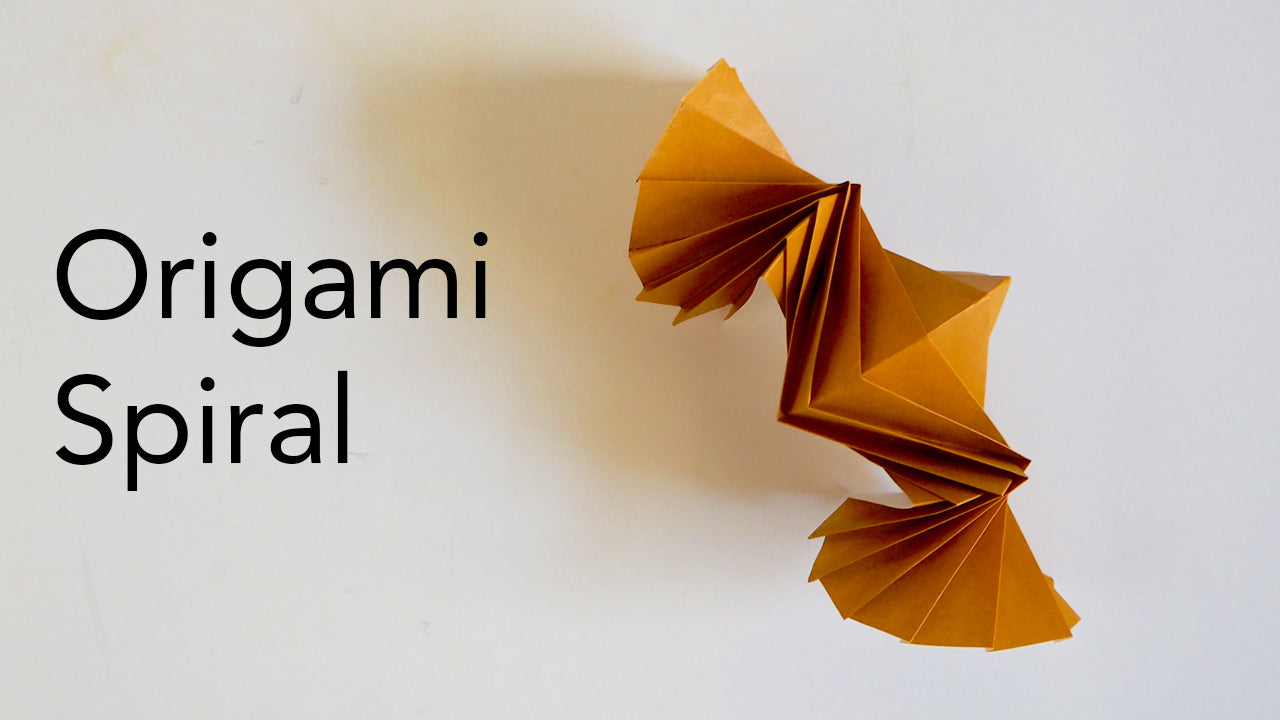 tutorial for an origami spiral