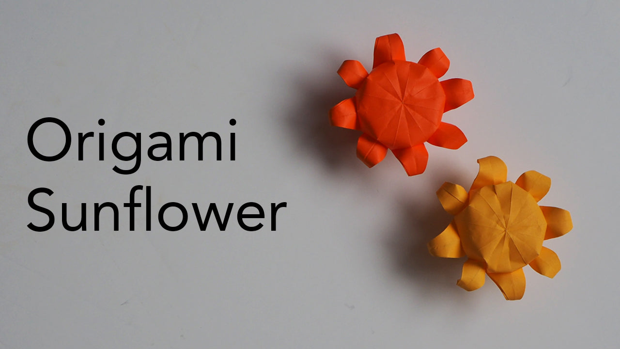 tutorial for an origami sunflower designed by tsu do ing