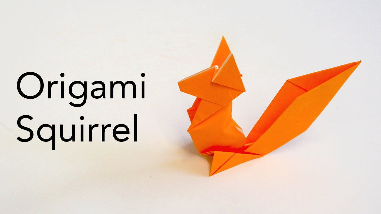tutorial for an easy kids origami squirrel