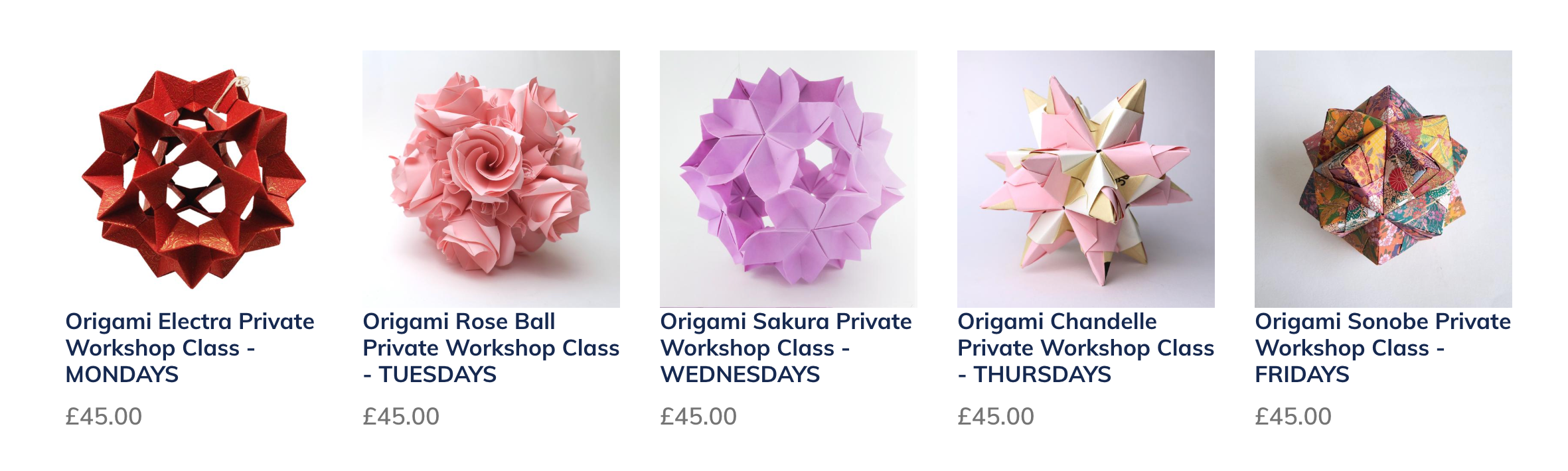 Origami Class Workshop in London
