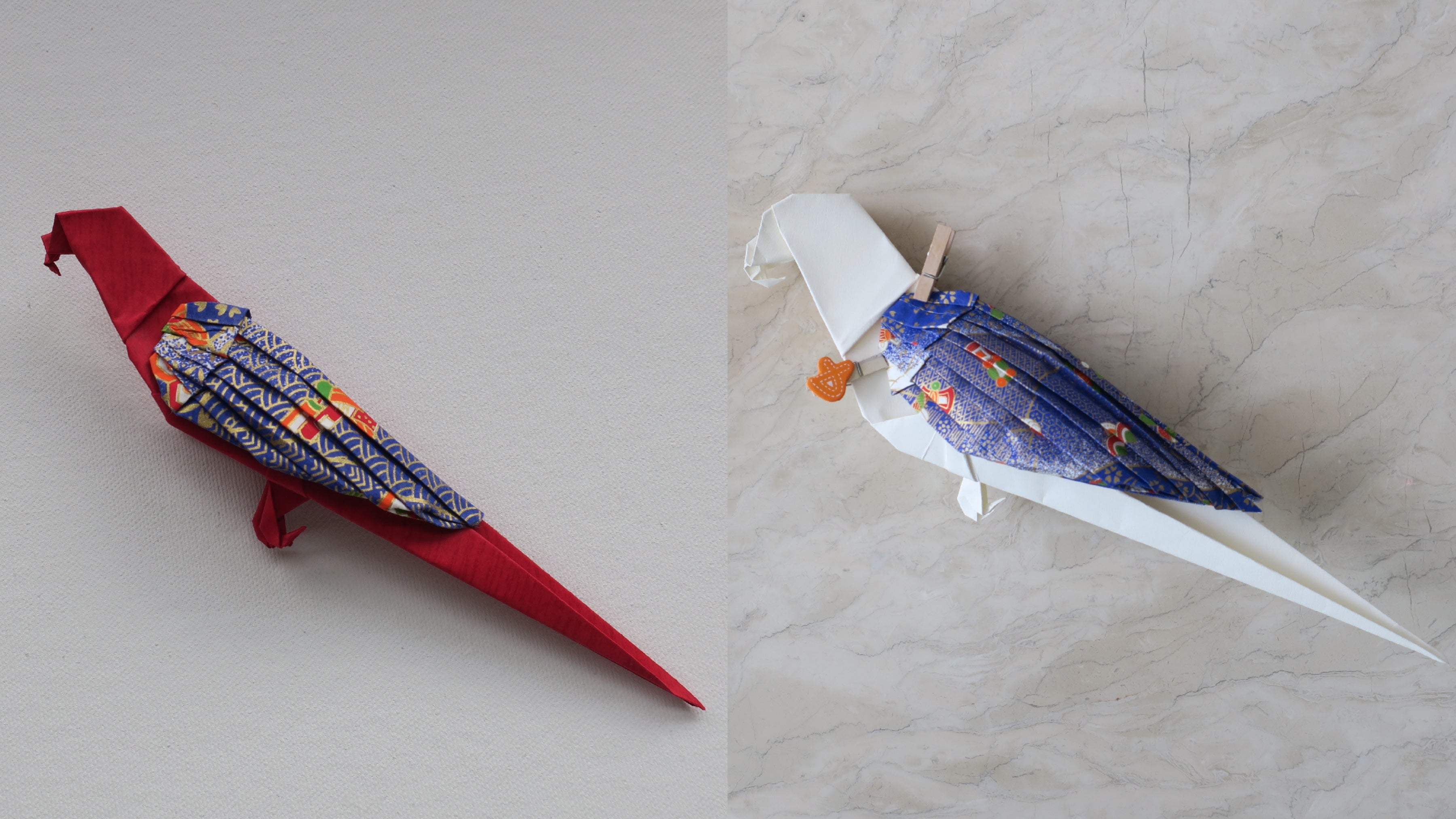 handmade custom origami parrot decoration