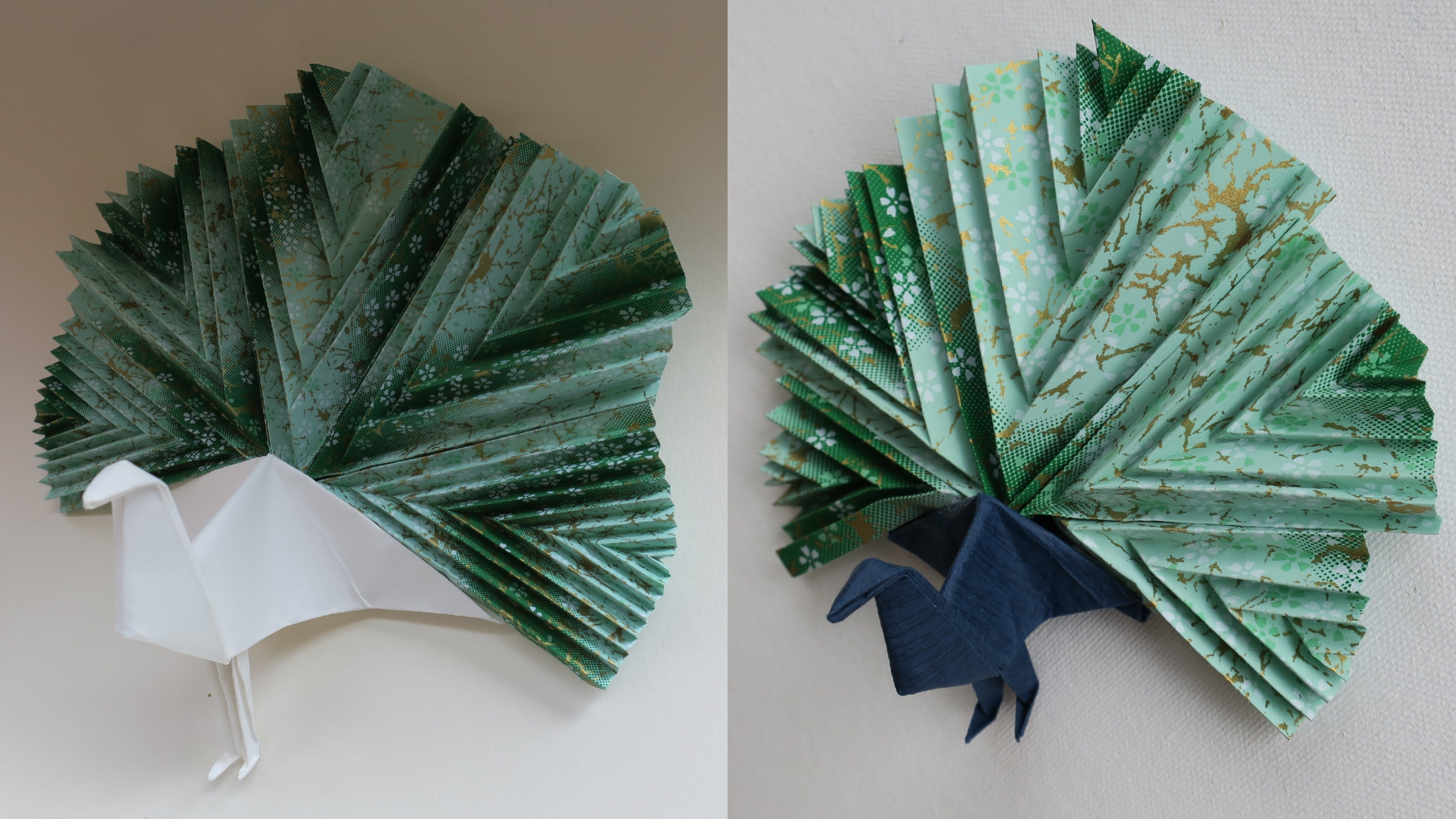 handmade custom origami peacock decoration