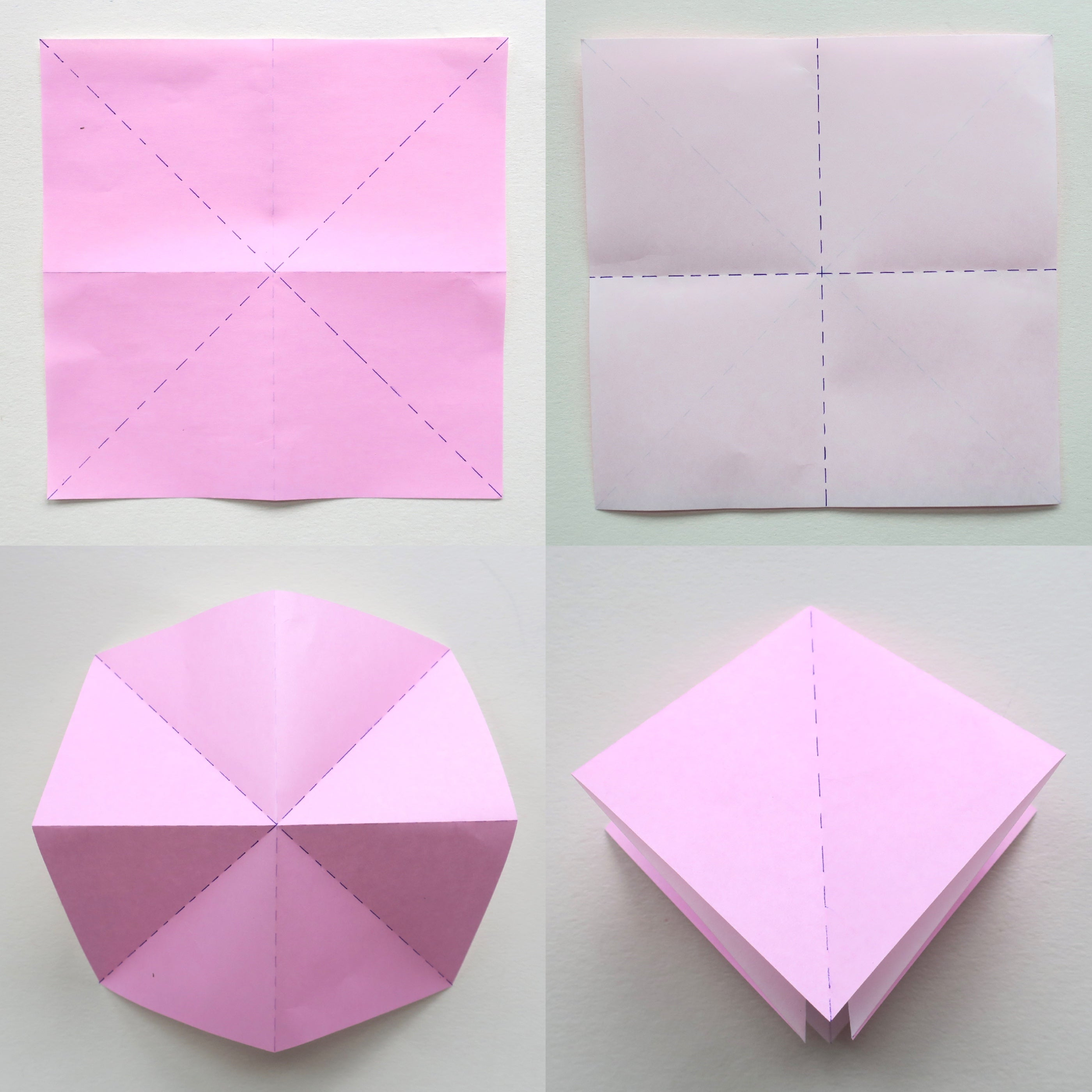 Origami Folding Instructions - How to make an Origami Square Base | 2800x2800