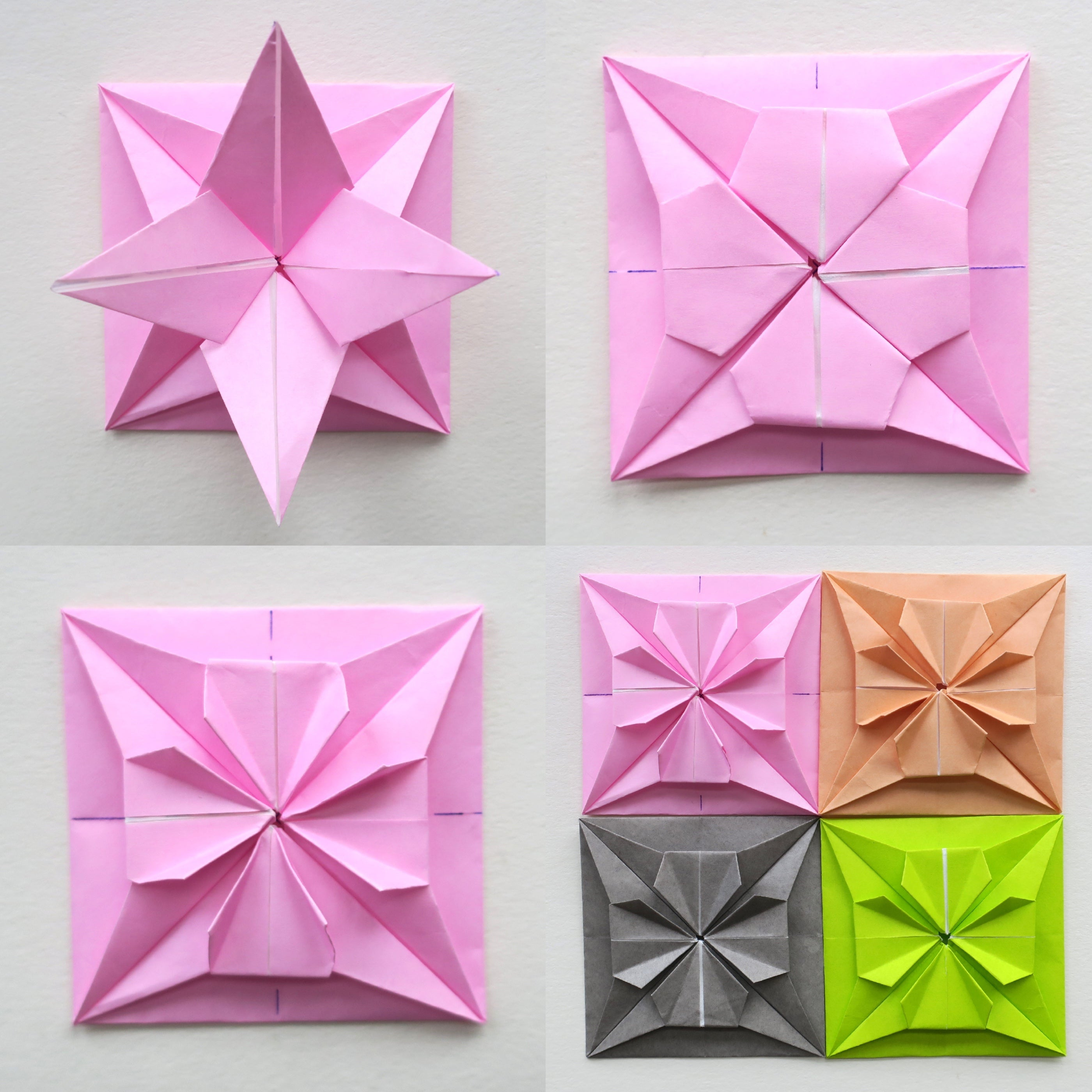 Square Origami Candy Box Instructions - Paper Kawaii | 2800x2800