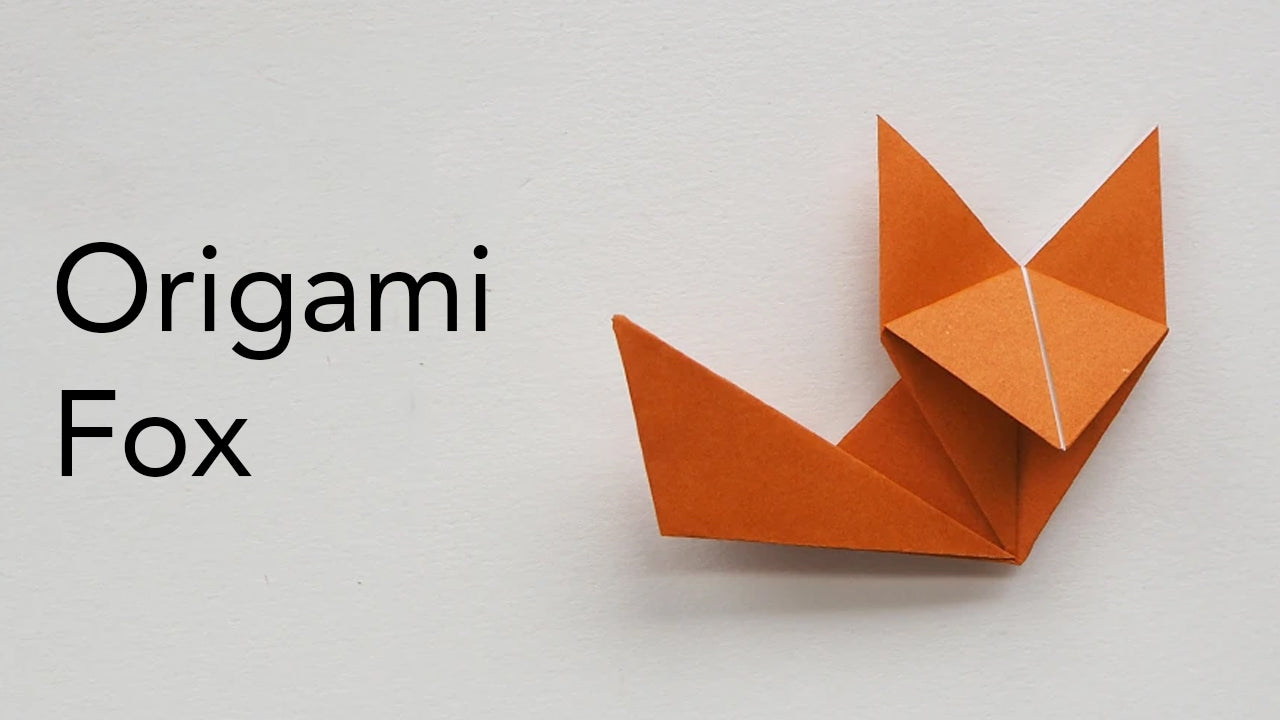 tutorial for an easy origami fox