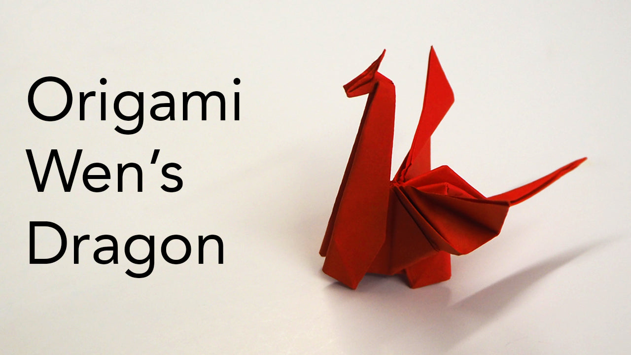 tutorial for an origami wens dragon designed by sok song