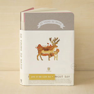 So Young So Naive Notebook - Reindeer - Stationery - Lavender Home London