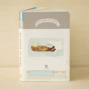 So Young So Naive Notebook - Sea Otter - Stationery - Lavender Home London