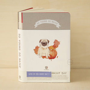 So Young So Naive Notebook - Pug