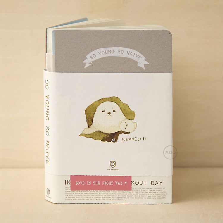 So Young So Naive Notebook - Seal - Stationery - Lavender Home London