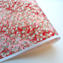 Yuzen Washi Wrapping Paper HZ-236 - Cherry Blossom Red Pink Gradation - washi paper - Lavender Home London