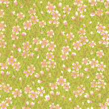 Pack of 20 Sheets 14x14cm Yuzen Washi Origami Paper HZ-379 - Pink Cherry Blossom Matcha - washi paper - Lavender Home London