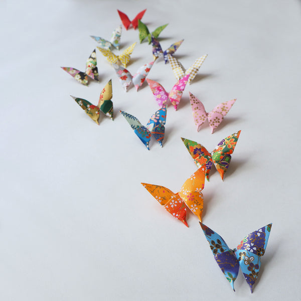 Yuzen Washi Origami Paper Butterflies Wall Decor