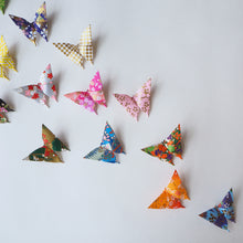 Pack of 25, 50, 100 or 200 Yuzen Washi Origami Paper Butterflies - Small - Origami Decorations - Lavender Home London