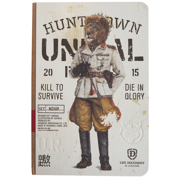HUNT TOWN UNIMAL Notebook - Lion - Stationery - Lavender Home London