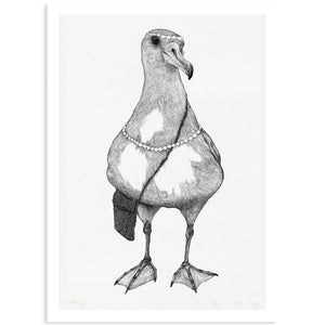 Albatross Detailed Drawing Print