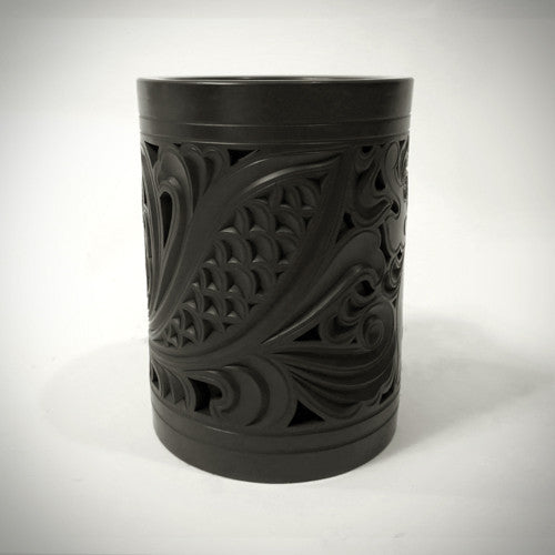 Traditional Chinese Handcraft Black Clay - BRUSH POT Pattern: Qilin