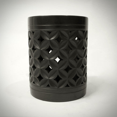 Traditional Chinese Handcrafted Black Clay - Brush Pot - Ancient coins - Homeware - Lavender Home London
