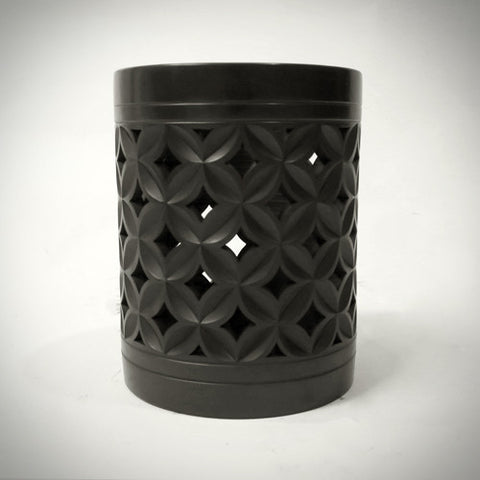 Traditional Chinese Handcraft Black Clay BRUSH POT Pattern: Ancient coins