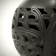 Traditional Chinese Handcrafted Black Clay - Vault of Heaven Vase - The Eight Immortals - Homeware - Lavender Home London