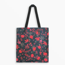 Blue Bird and Pink Elephant Tote Bag Illustration by Izou
