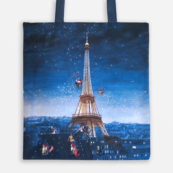 Tote Bag - Tour Eiffel by Night by Marie-Anne Foucart